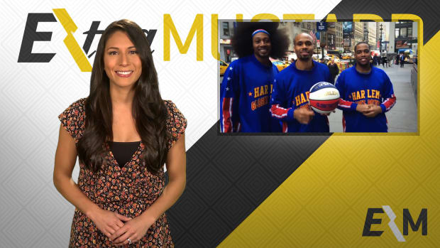 Mustard Minute: Harlem Globetrotters nail trick shots from Madison Square Garden roof IMG