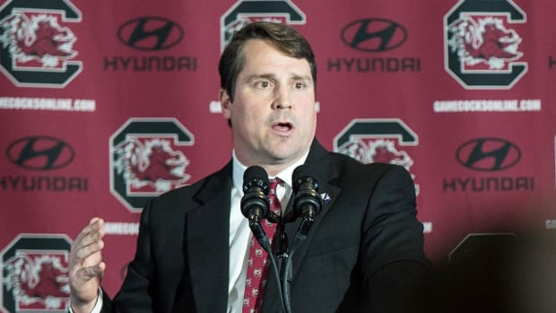 Will Muschamp delivers trademark passion in first press conference as new South Carolina head coach