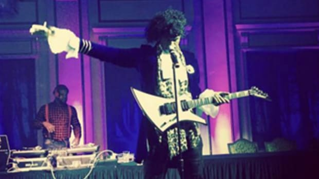 Watch: Lebron James does his best Prince impression for Halloween -- IMAGE