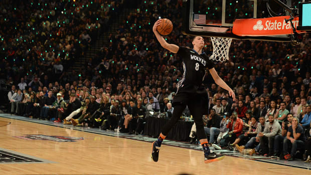 Where does LaVine's Dunk performance rank all-time? IMG