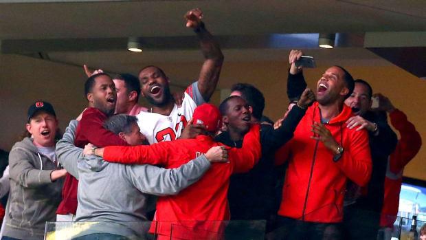 LeBron James at the national championship game