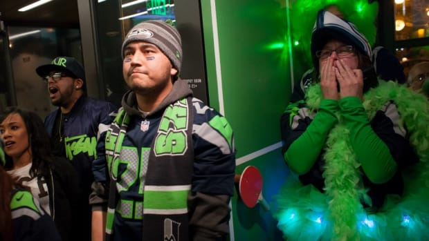 Seattle Seahawks fans react to Super Bowl ending