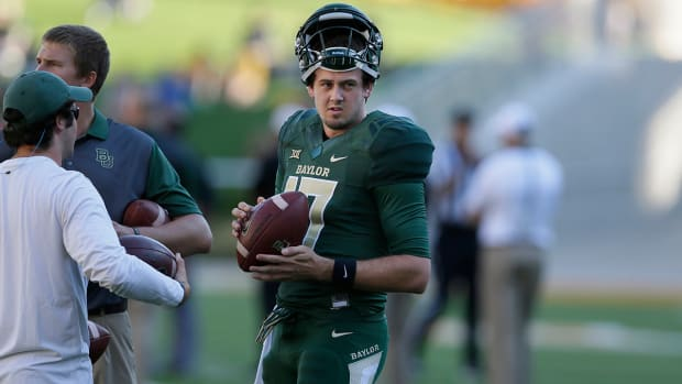 Seth Russell, baylor qb, Seth Russell neck, Seth Russell injury, baylor bears, baylor football- IMAGE