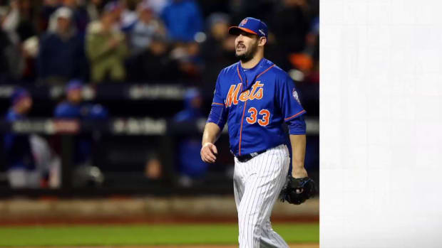 Mets pitcher Matt Harvey (triceps) questionable for Game 5 - IMAGE