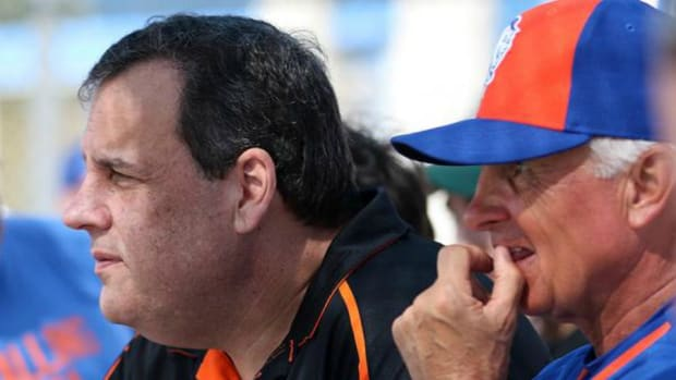New York Mets get a spring training visit from Chris Christie