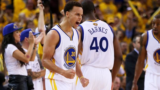 Warriors win Game 1, Cavaliers lose Kyrie Irving to injury IMAGE