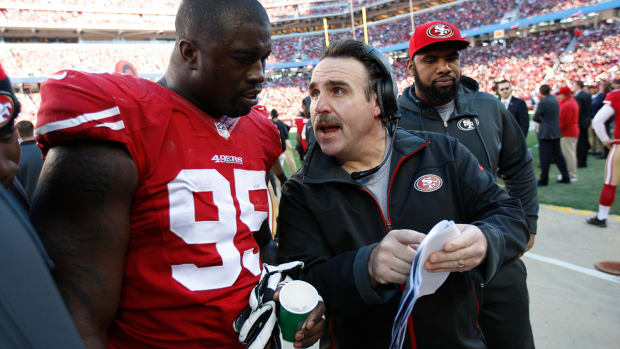 Report: 49ers promote DL coach Jim Tomsula to head coach IMAGE