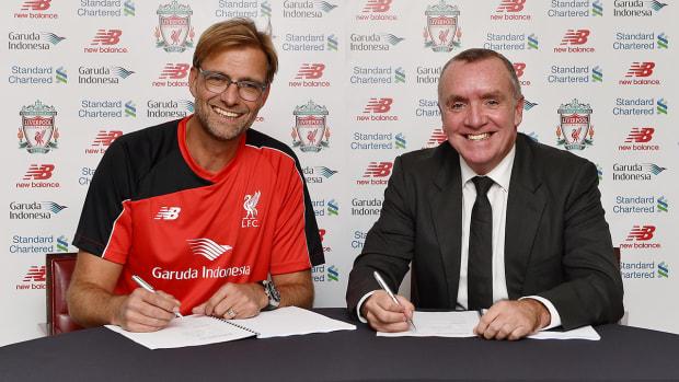 Liverpool announces hiring of manager Jurgen Klopp--IMAGE