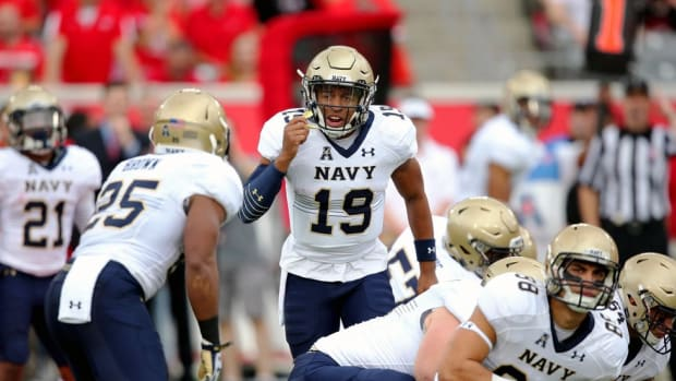 Pitch perfect: Keenan Reynolds has been a touchdown maker for the ages while leading Navy to new heights