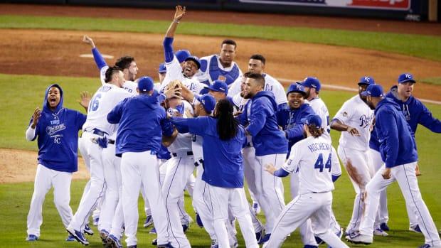Kansas City Royals beat Toronto Blue Jays, advanced to World Series -- IMAGE