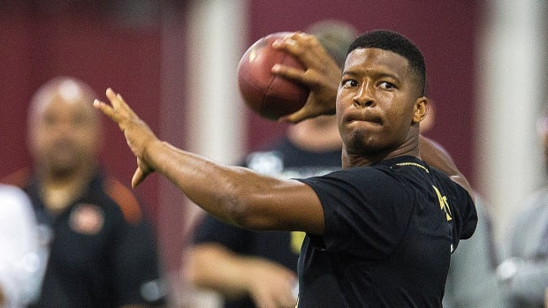 Which scouts were most impressed by Jameis Winston's pro day?-image