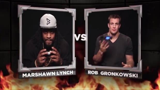 Marshawn Lynch, Rob Gronkowski play Mortal Kombat X with Conan