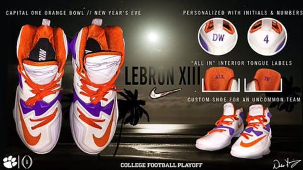 Clemson players receive custom Lebron XIII sneakers--IMAGE