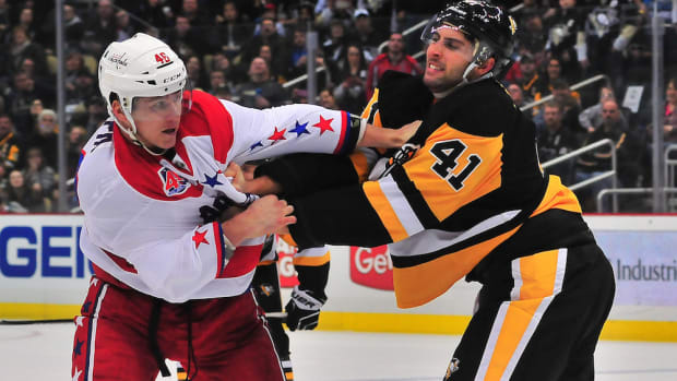 washington capitals pittsburgh penguins fight