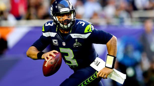 Russell Wilson Seattle Seahawks Super Bowl 2015