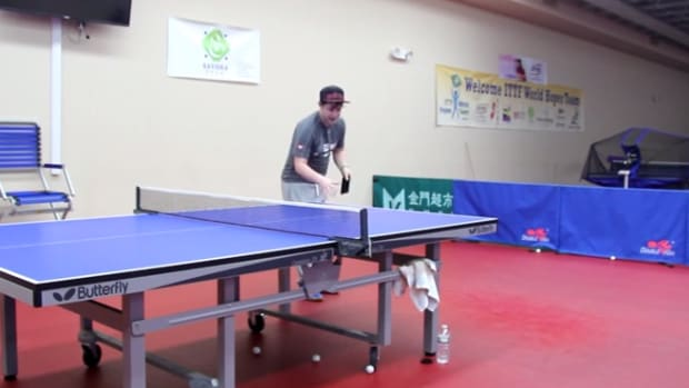 table tennis paddle phone video