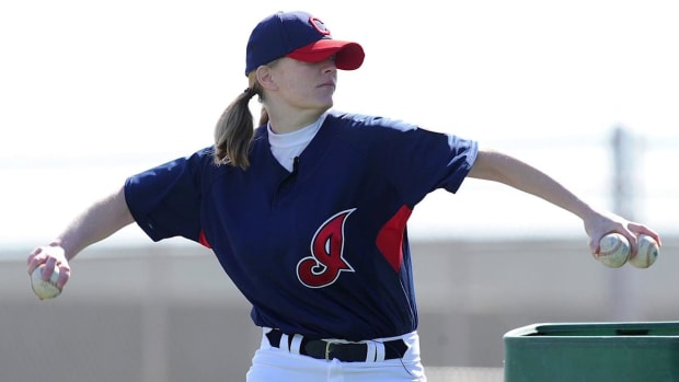A's hire MLB's first female coach as guest instructor -- IMAGE