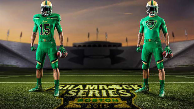Notre Dame, Boston College reveal new uniforms for Shamrock Series -- IMAGE