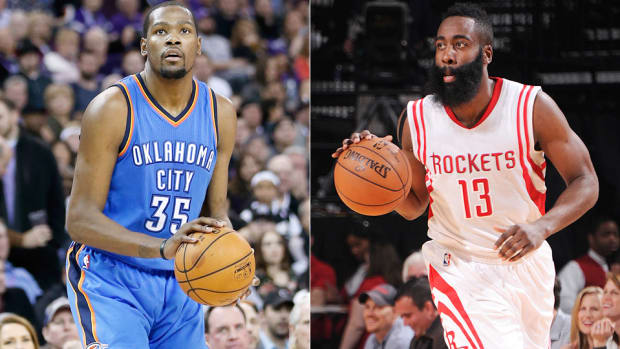 James Harden Rockets Kevin Durant Thunder 960 split
