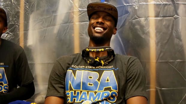 Harrison Barnes first sip of alcohol was Warriors' victory champagne