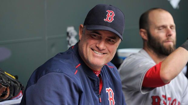 Boston Red Sox manager John Farrell's cancer in remission -- IMAGE