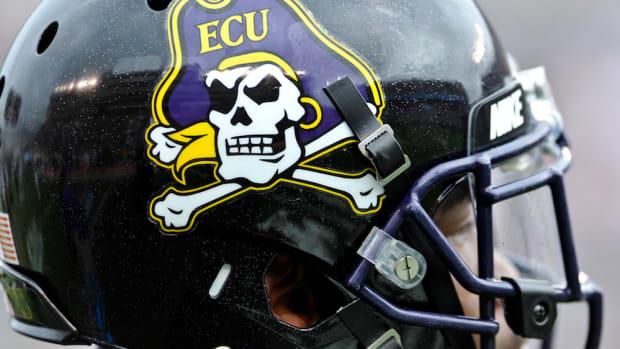 ecu pirates football helmet