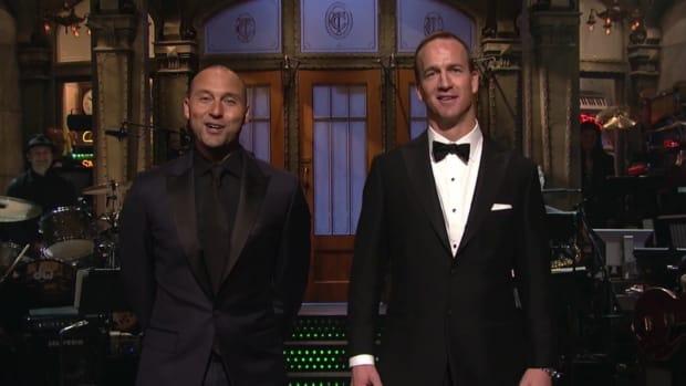 Peyton Manning and Derek Jeter on 'SNL 40'