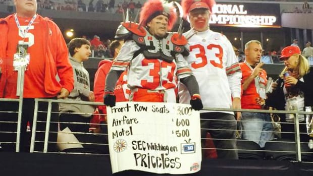ohio state fan sign sec national championship game