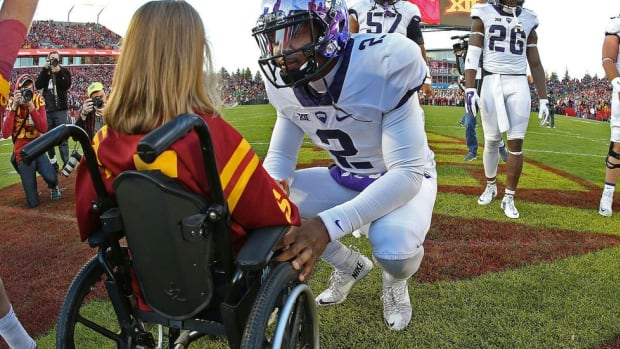 An unforgettable moment: Trevone Boykin's kind gesture sparks fame for Iowa State fan Abby Faber