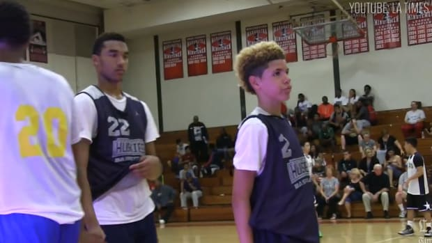 13-year-old LaMelo Ball follows brothers, commits to UCLA--IMAGE