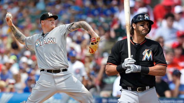 Reports: Dodgers acquire Mat Latos, Michael Morse from Marlins--IMAGE
