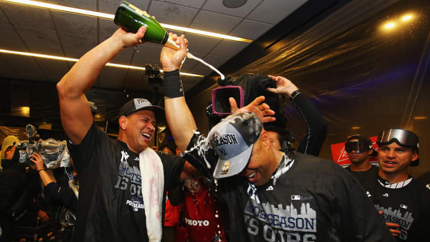 Yankees clinch AL Wild Card spot with win vs. Red Sox--IMAGE