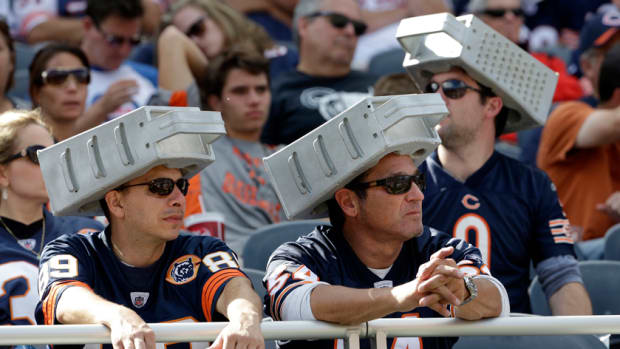 Bears fans cheese grater hats