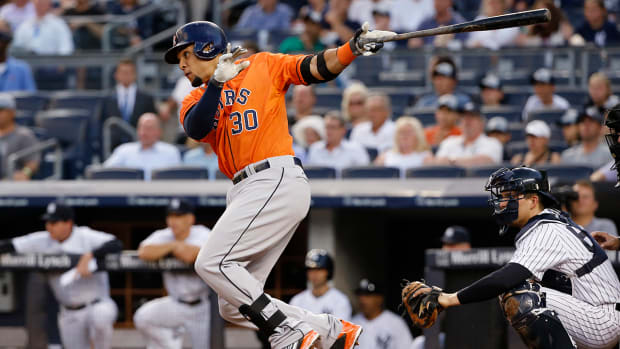 Astros' Carlos Gomez tells Yankees to 'shut up', causing benches to clear--IMAGE