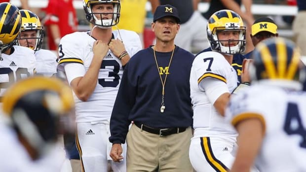The work has begun: Despite losing debut, Jim Harbaugh shows where Michigan is headed