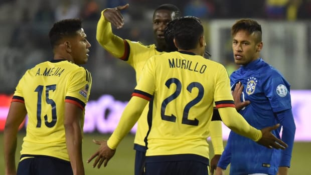 Neymar gets red card after loss to Colombia