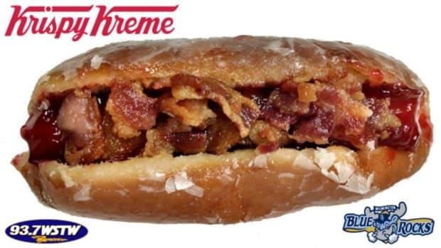 Minor league team debuts Krispy Kreme donut hot dog