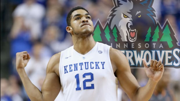 Timberwolves draft Karl-Anthony Towns with top pick in NBA draft IMAGE