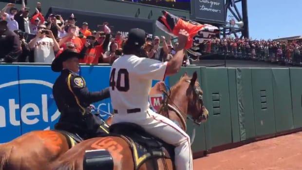 madison bumgarner rides horse
