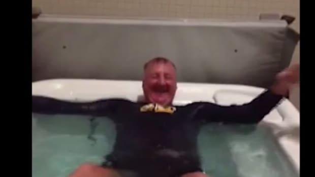 Indiana Pacers' president Larry Bird took the ice bucket challenge