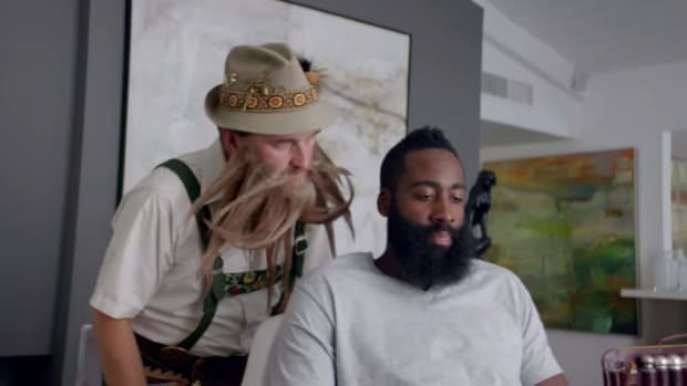 James Harden visits Beard Guru