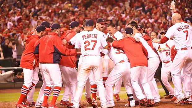 Cardinals NLCS Game 2 walk-off celebration