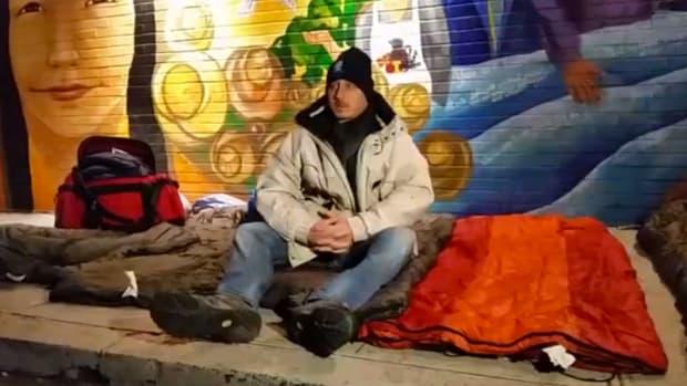 yankees brian cashman sleep street homeless