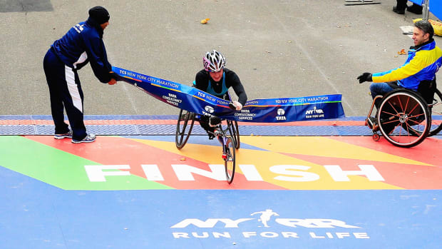 Tatyana McFadden on winning the NYC Marathon despite falling from her wheelchair