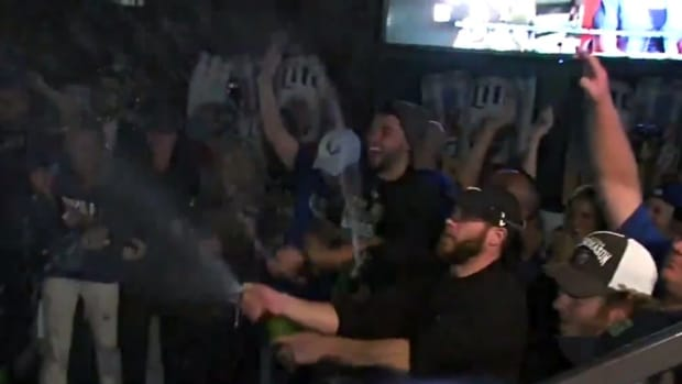 Kansas City Royals celebrated with their fans after ALDS sweep