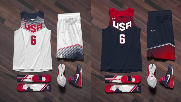 USA Basketball uniforms