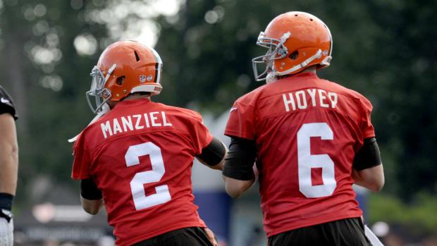 Johnny Manziel and Brian Hoyer
