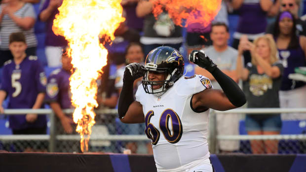 Baltimore Ravens LT Eugene Monroe minor knee surgery