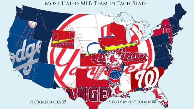 Most Hated MLB team U.S. map lead