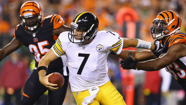 Steelers quarterback Ben Roethlisberger during a 2013 game against the Bengals
